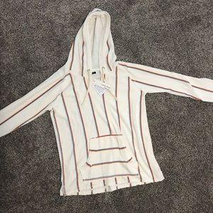 Ocean drive striped hoodie